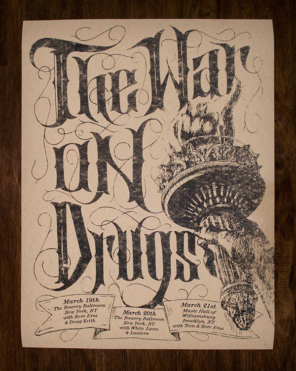 War On Drugs Gig Poster