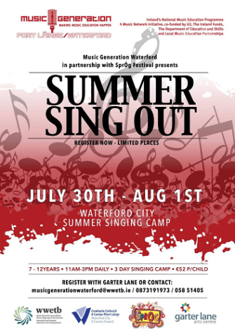 summer sing out poster