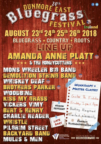 blue grass line up 2018