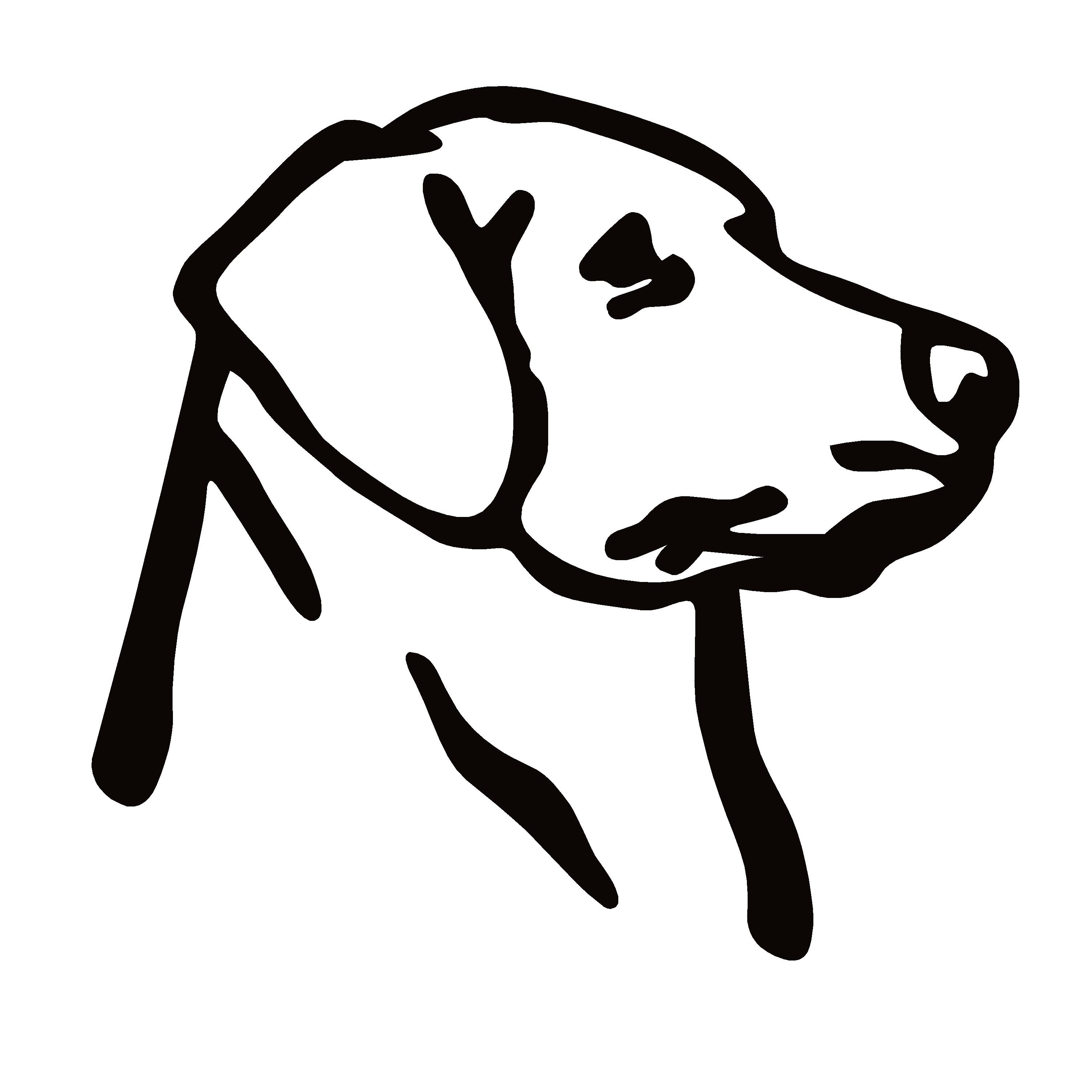 Labrador Retriever Head Hunting Dog Decal