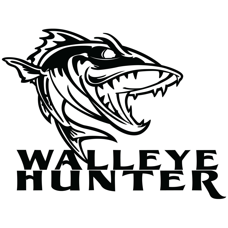 Walleye Fishing Sticker Walleye Decal Walleye Fishing