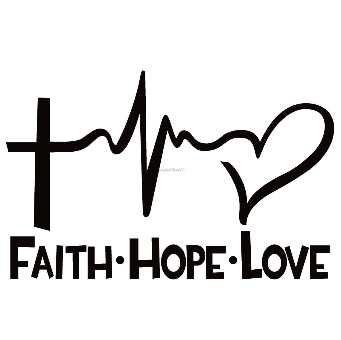 Download Faith Hope Love Window Decal - Faith Hope Love Window Sticker