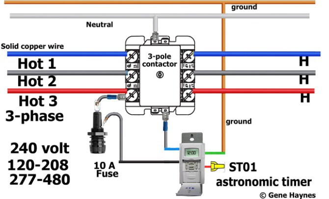 how to install 3phase timer