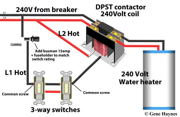 3 way switches control contactor 240 WH 600?resize=600%2C389 2 pole contactor wiring diagram periodic & diagrams science 2 pole contactor wiring at readyjetset.co