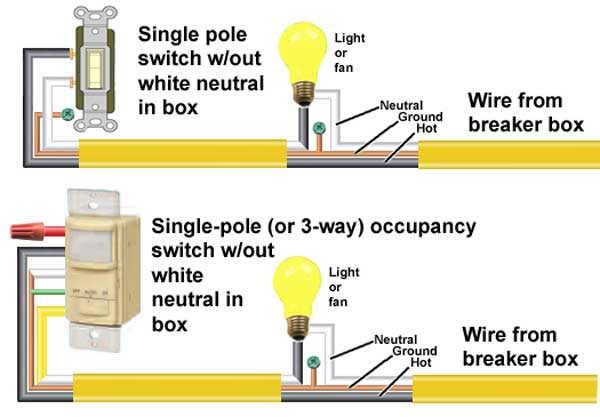 how to wire occupancy sensor and motion detectors