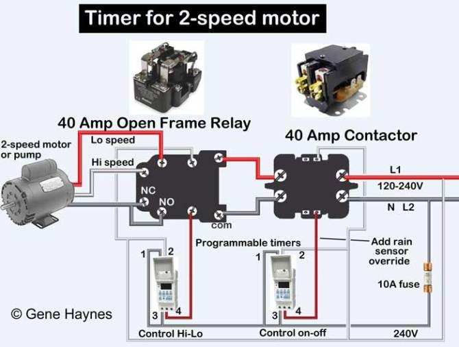 how to wire hayward 2 speed pump