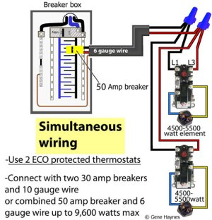 How to wire water heater thermostats