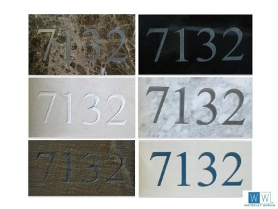 Accent House Numbers Etched and Inlaided