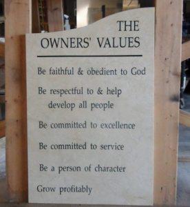 JPI Owner's Values
