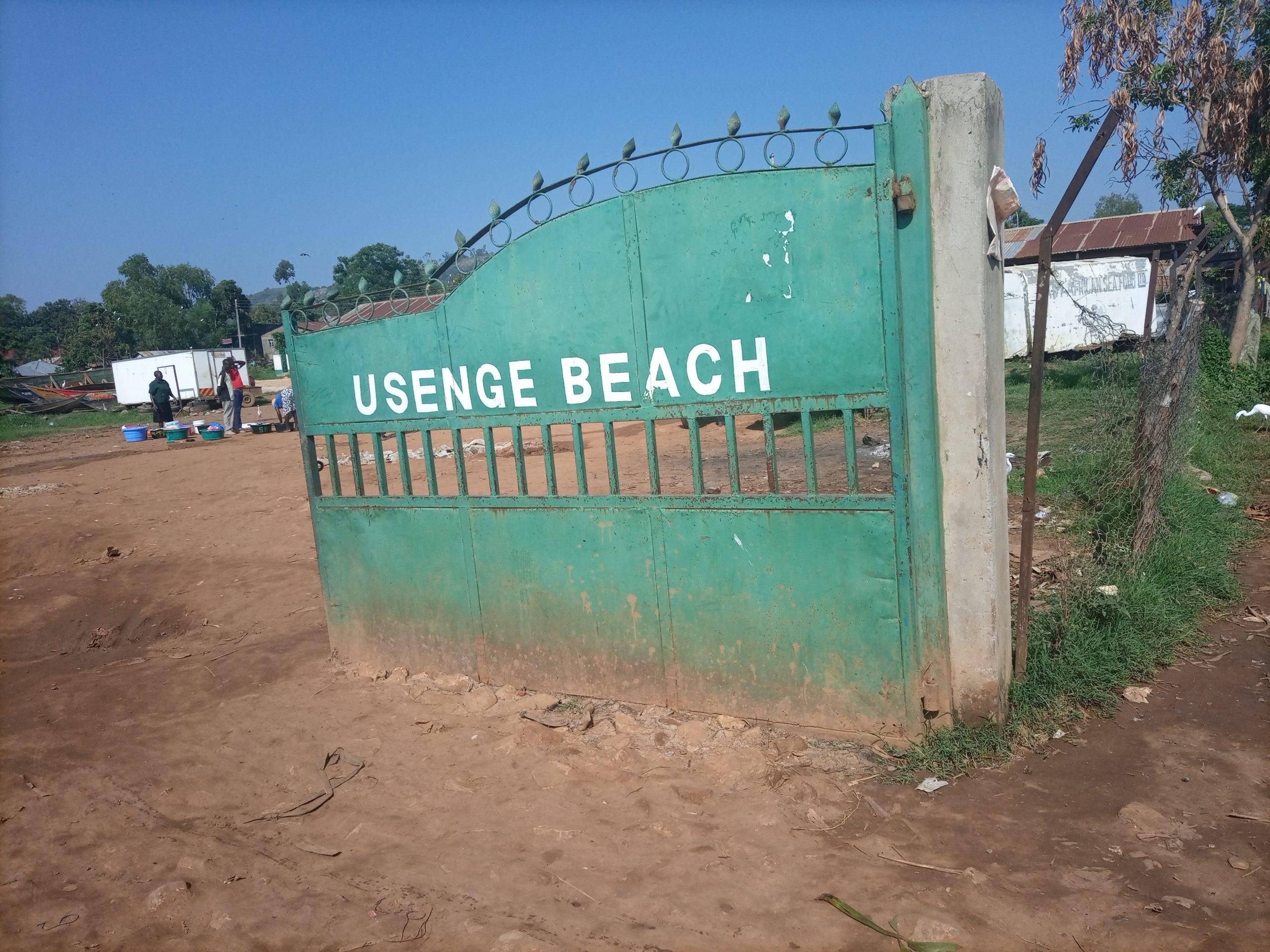 Usenge, a beach choked by plastic