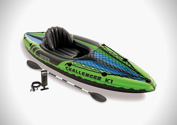 Intex Challenger K1 Kayak, 1-Person Inflatable Kayak Set