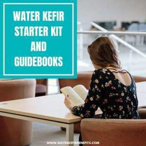 Water Kefir Starter Kit and Guidebooks for Beginners
