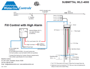 SWS4000  Fill | HIGH ALARM  Electronic Water Level Control