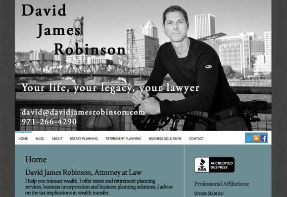 David James Robinson website by Waterlink Web