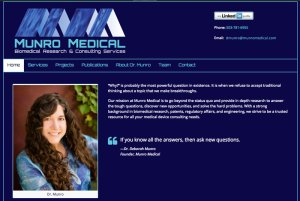 Munro Medical website designed by Waterlink Web