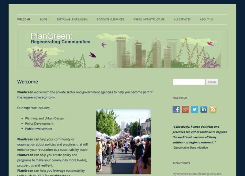 PlanGreen website by Waterlink Web.