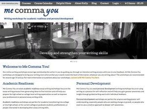 Screenshot of Me Comma You website