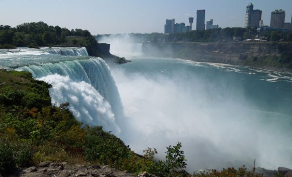 Niagara Falls from the American side.