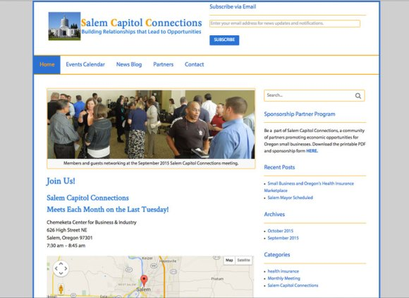 Salem Capitol Connections home page of website