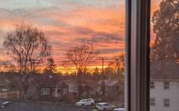 Sunrise from the Waterlink Web office window