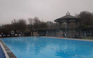 The bandstand at Hathersage Swimming Pool
