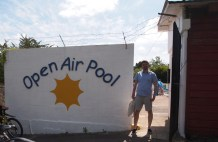 Tom outside Cirencester Open Air pool