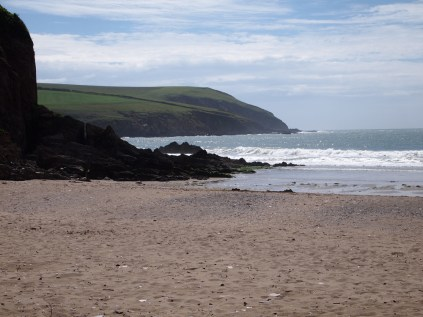 Mothecombe beach looking out to the River Erme