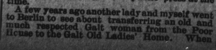 Source: Galt Reporter July 7,1893 from the Kitchener Public Library Archives