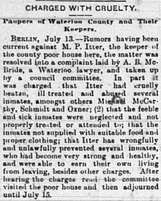 Berlin News July 14, 1893; Source: Kitchener Public Library Archives