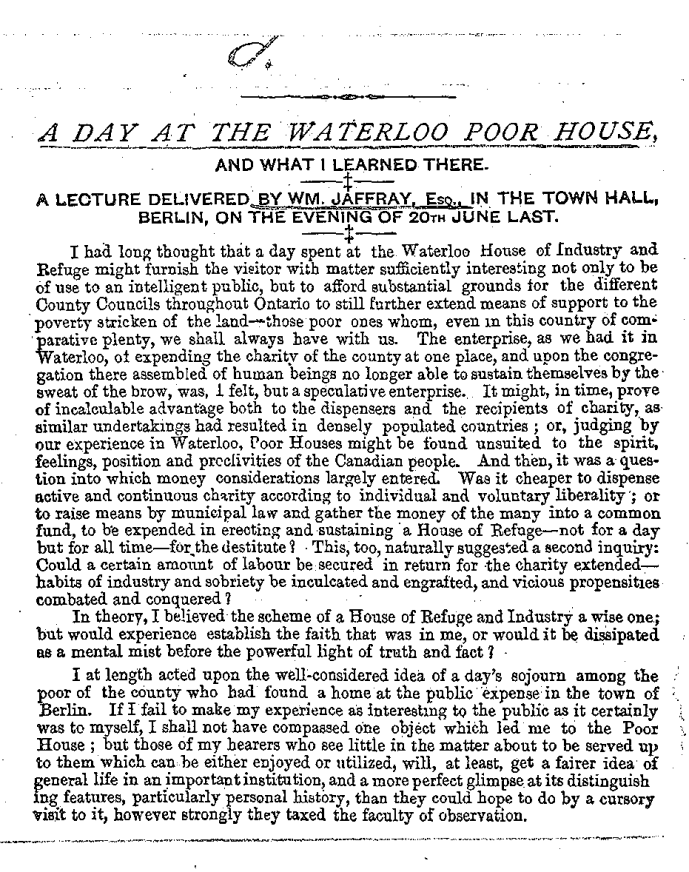 """A Day at the Waterloo Poor House, and What I Learned There"", page 34; Source:"
