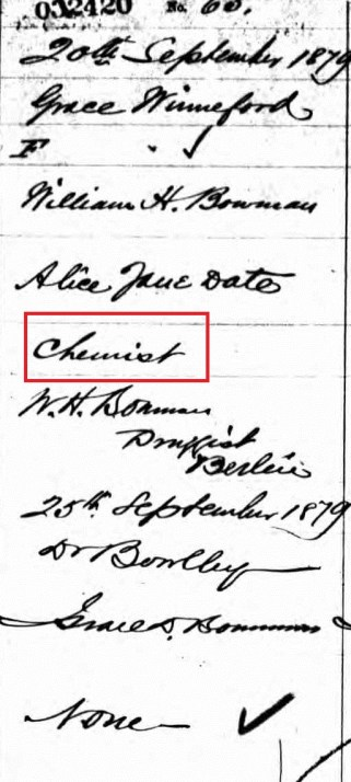 Grace Winneford's Birth Certificate; Source: ancestry.ca