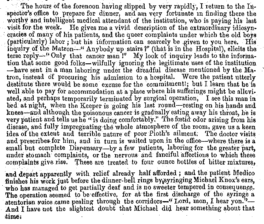 """A Day at the Waterloo Poor House, and What I Learned"" by William Jaffray; Source: Region of Waterloo Archives"