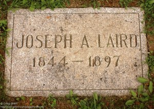 Joseph Laird burried in Riverside Cemetary, New Hamburg; Source: from geneofun.on.ca