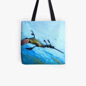 Durable Cotton Tote Shopping Bag Weedy Seadragon