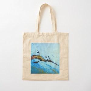 Lightweight Cotton Shopping Tote Bag Weedy Seadragon