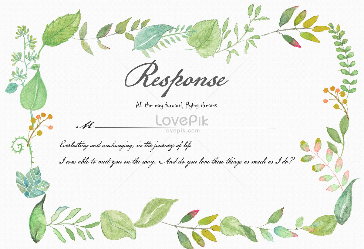 Watercolor and green leaf border hand painted backgrounds image_picture free download 400077653_lovepik.com
