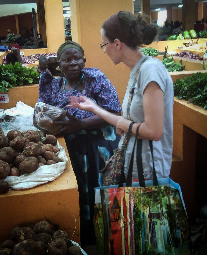 Open air markets are common in East Africa
