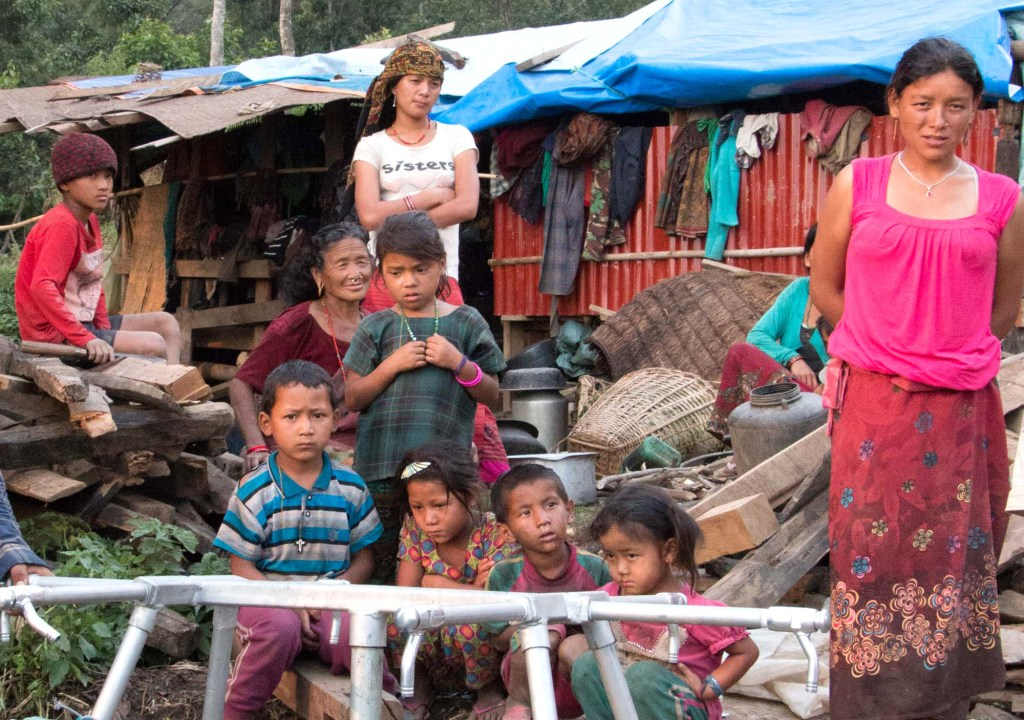 Keura community with tap stands | Nepal Earthquake