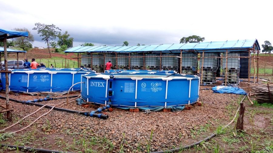 Setting up Solar Power Safe Water Treatment Equipment in Nyarugusu Refugee Camp, Tanzania