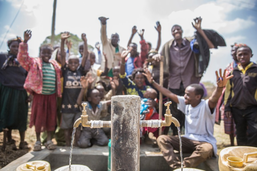 The community of Enariboo, Kenya celebrate the new safe water project.