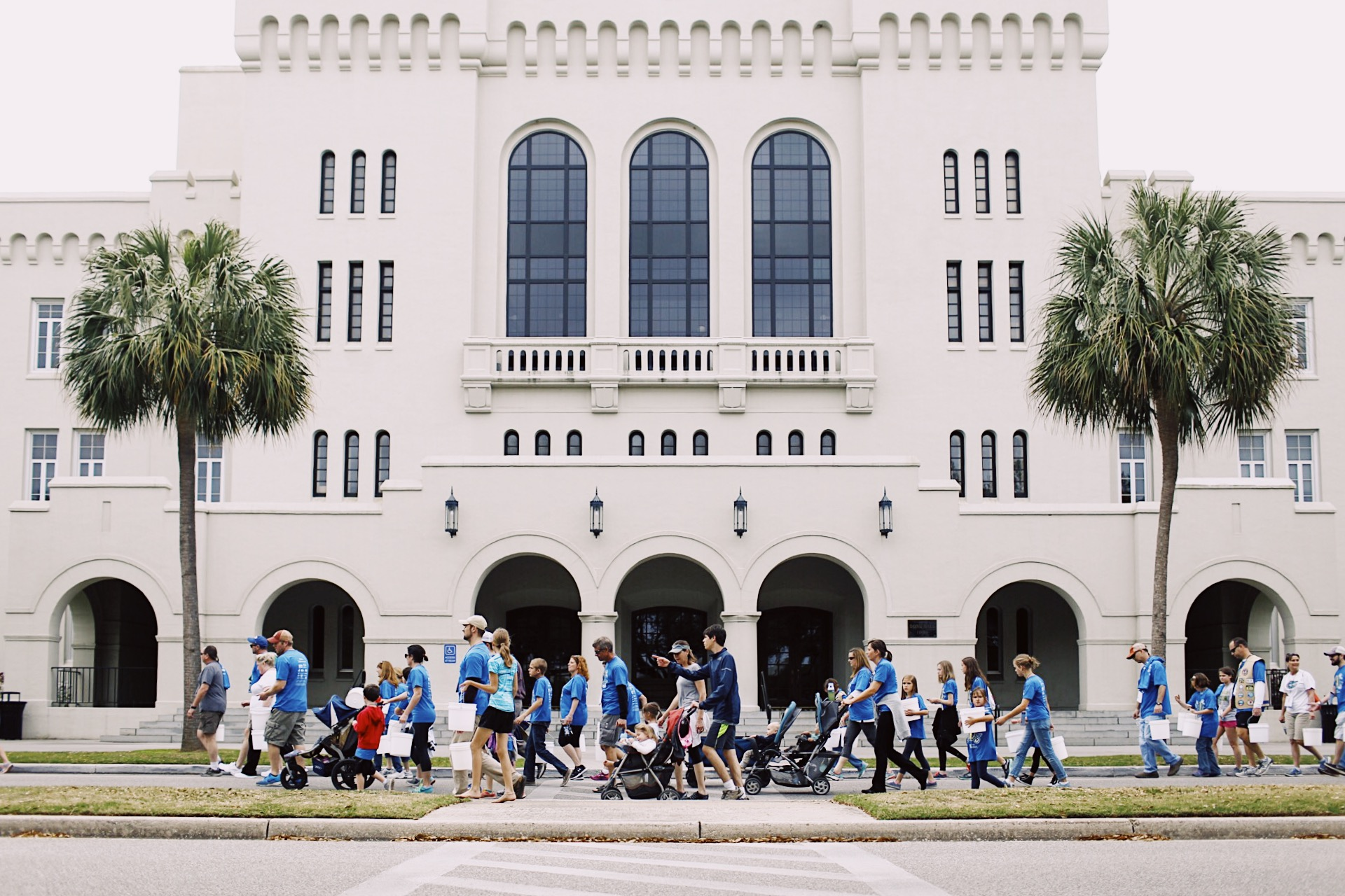 Walkers pass through the Citadel campus at Water Mission's Walk for Water.