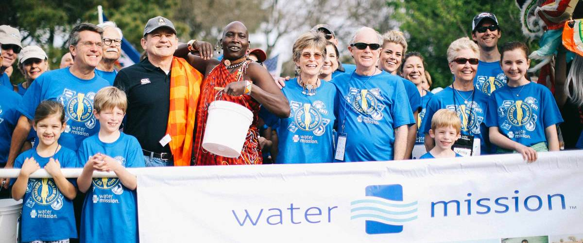George and Molly Greene start Water Mission's 11th annual Walk for Water.