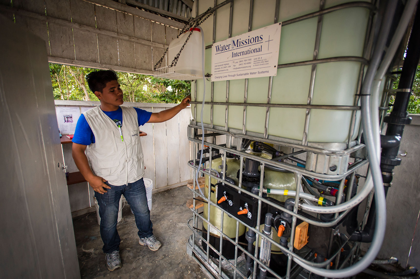 The Living Water Treatment System in Peru.