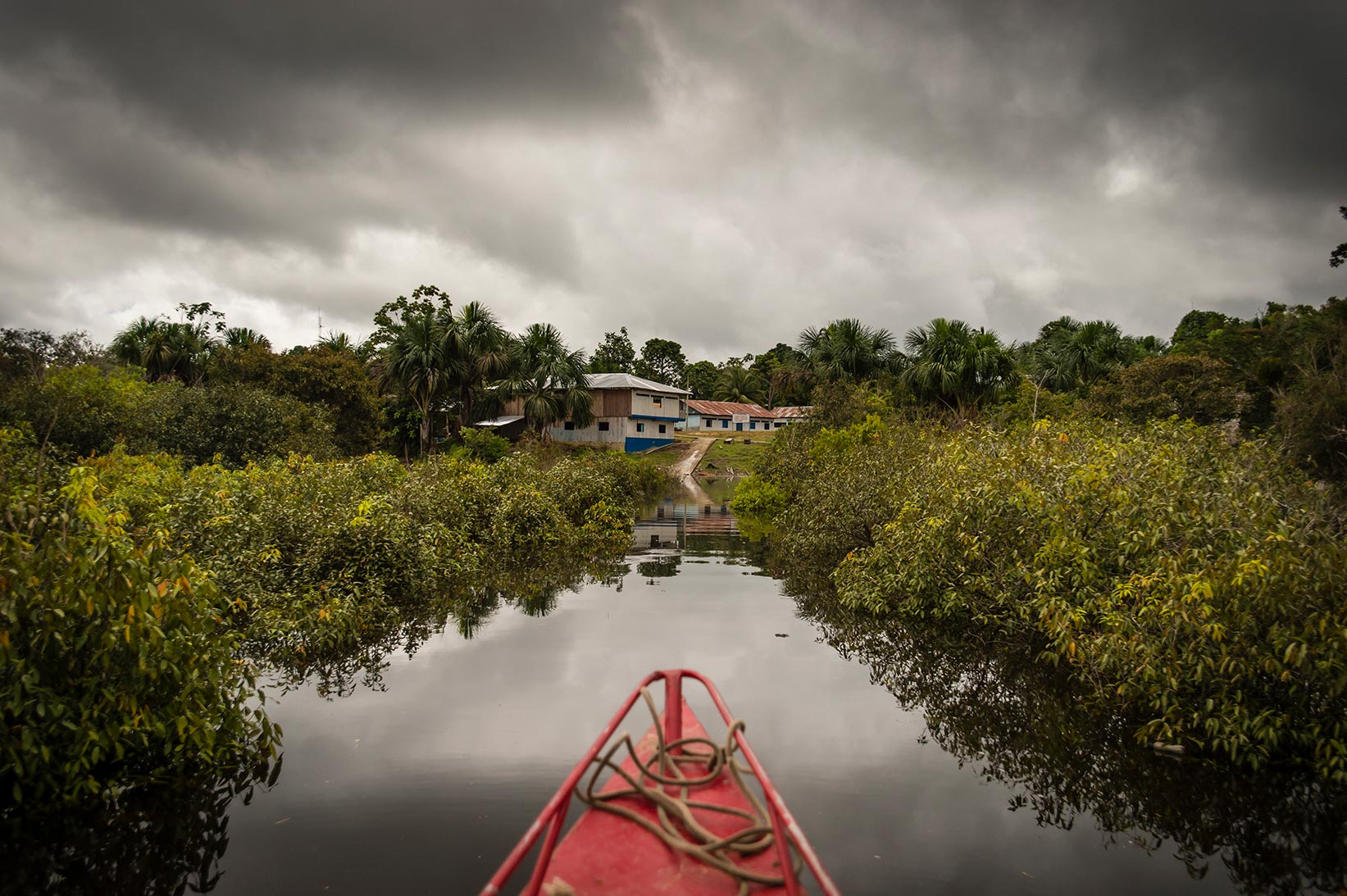Segundo's community in Peru is accessible by boat only.