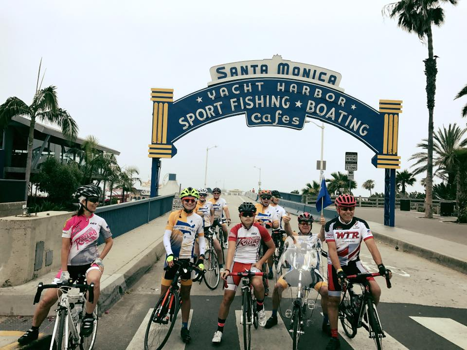 Scotty's Ride team takes off from the pier.