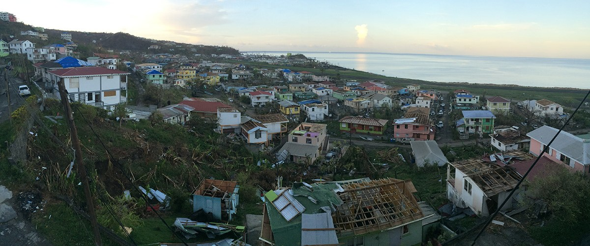 Hurricane Maria caused wide-spread damage on the island of Dominica.