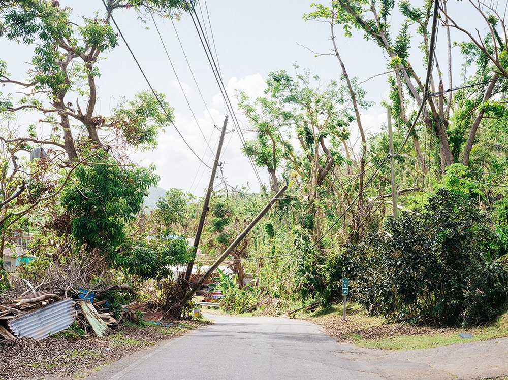 Power outages remain in the rural mountains of Puerto Rico.