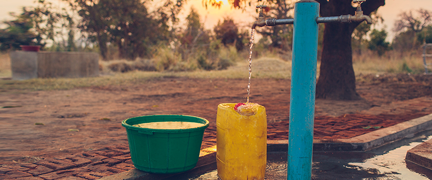 Tap stand in Malawi