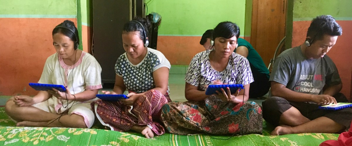 Survey participants in Indonesia.