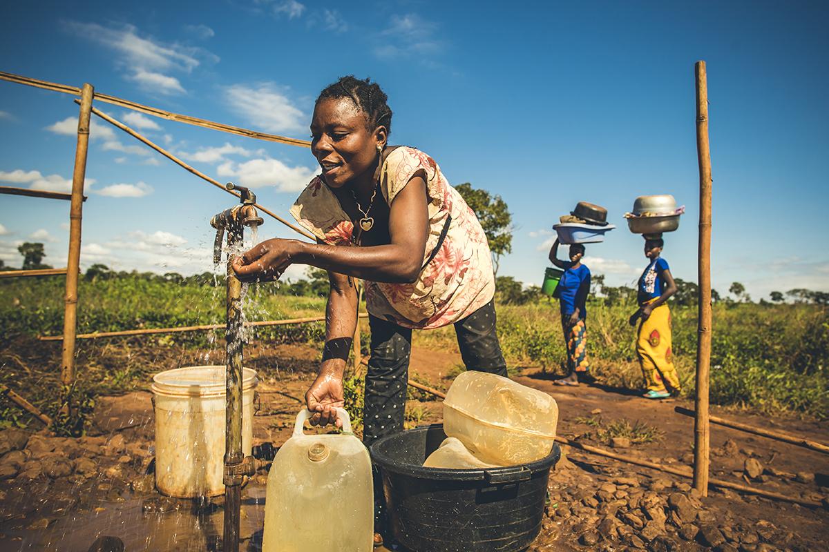 Safe water in Nyarugusu Refugee Settlement